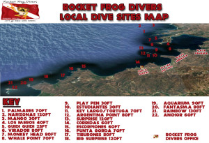 Costa Rica Dive Site Map